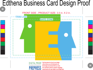 edthena business card printing proof