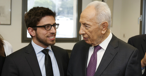 Adam Geller, Edthena, and Shimon Peres, President of Israel