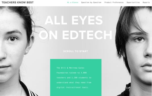 Gates Foundation Launches 'Teachers Know Best' Site for Ed-Tech Entrepreneurs