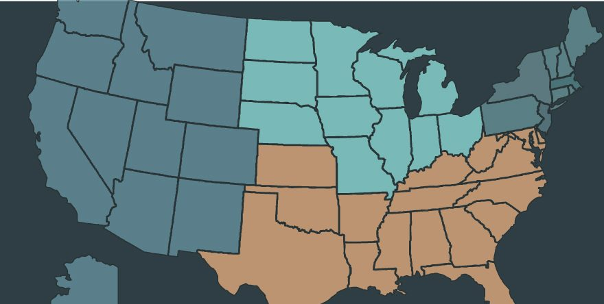 regional data, map
