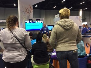 Educators gathered to hear demos on the show floor at FETC.