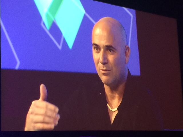 Tennis star Andre Agassi explained his passion for education at ASU GSV Summit in Salt Lake City.
