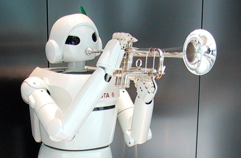 New band teacher? Source: https://commons.wikimedia.org/wiki/File:Toyota_Robot_at_Toyota_Kaikan.jpg