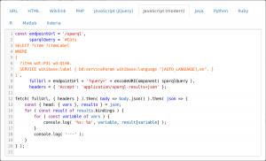 JavaScript, a text-based programming language