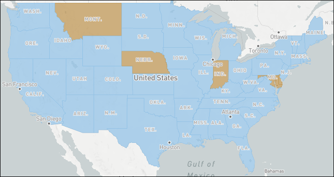 STEM Opportunity Index map