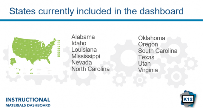 States included in the dasbhoard