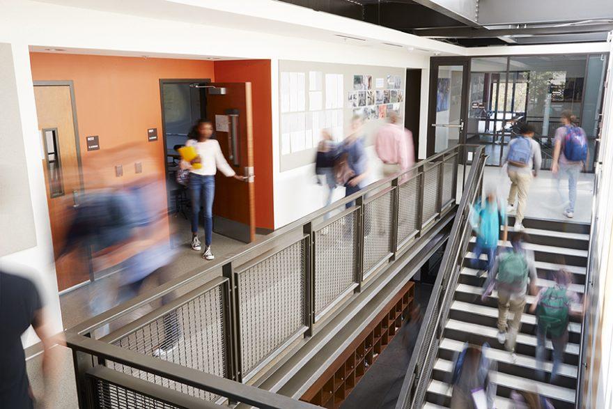 Image of a school hallway.
